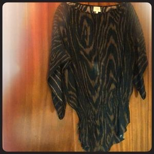 Black and Brown Silk Blouse